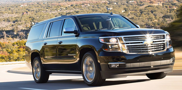Chevrolet Suburban (comfortable seating for 5-7 passengers in two seating arrangements)